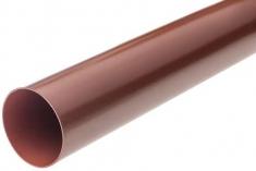 Труба водосточная ПВХ, цвет красный, длина 4 м, диаметр 95 мм