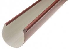 Жёлоб водосточный ПВХ, цвет красный, длина-4м,-диаметр-125-мм