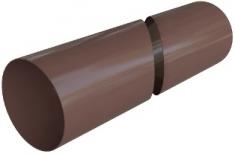Труба водосточная с муфтой ПВХ, цвет Коричневый 4м