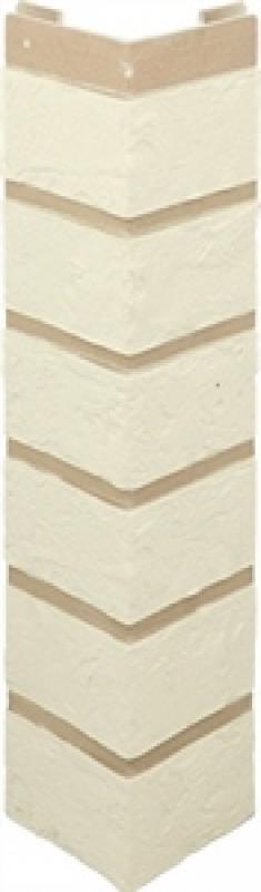 Наружный угол кирпич (белый), 0,47 х 0,1м