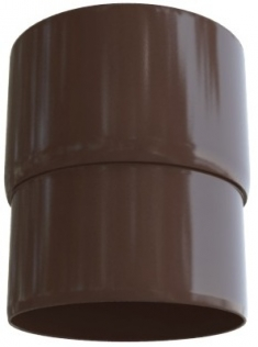 Муфта трубы ПВХ, цвет Коричневый